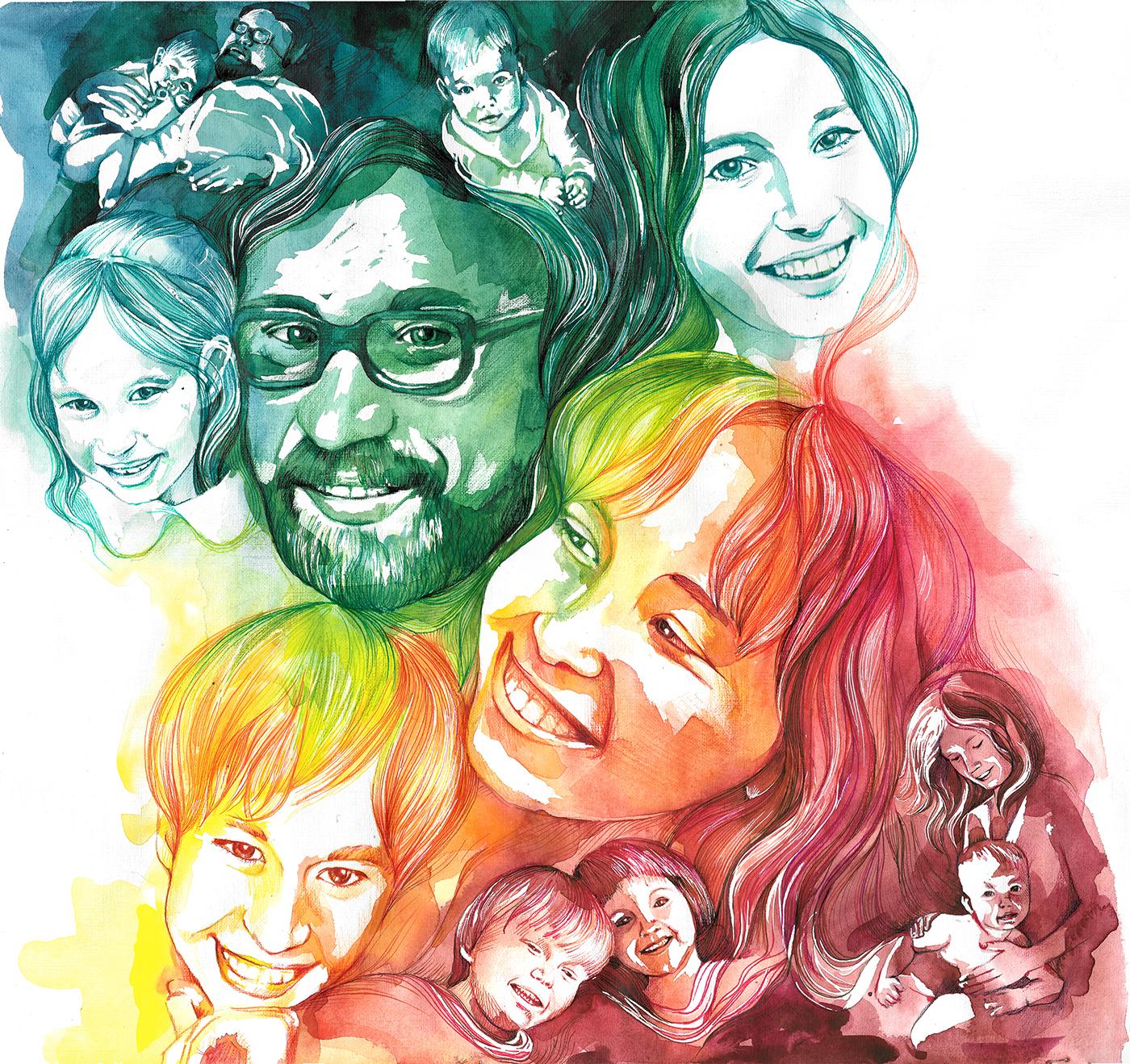 Картинки семьи графические
