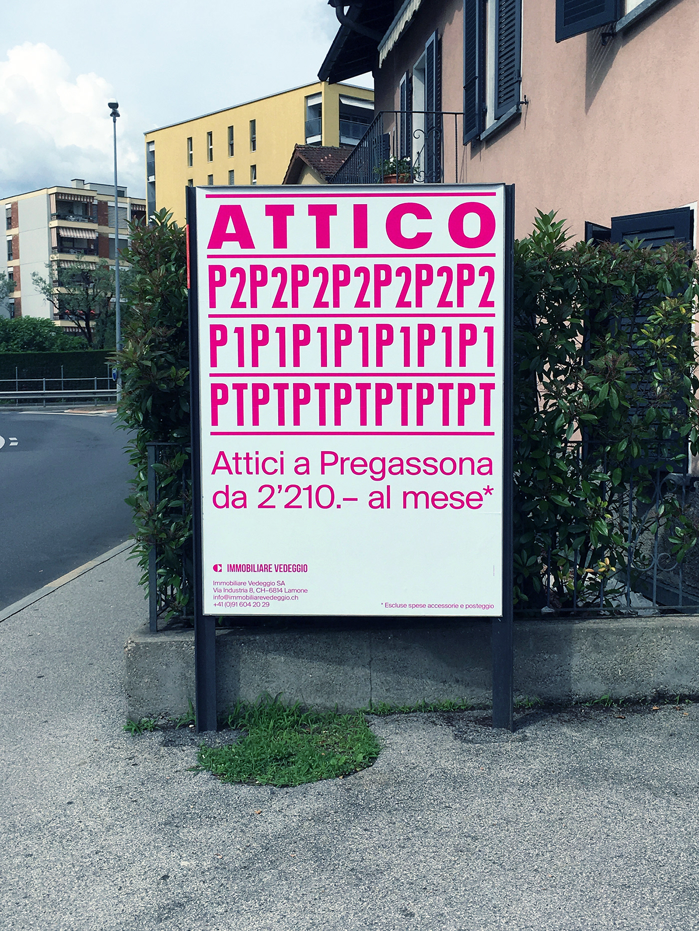 swiss lugano milano ticino Italy typography   plakat pink minimal photo