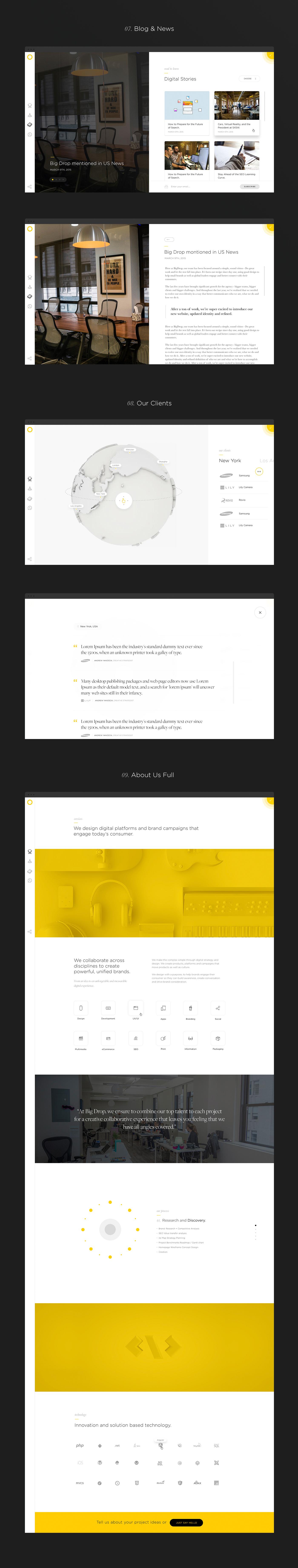 motion graphics  redesign icons grid Blog agency digital UI ux Webdesign