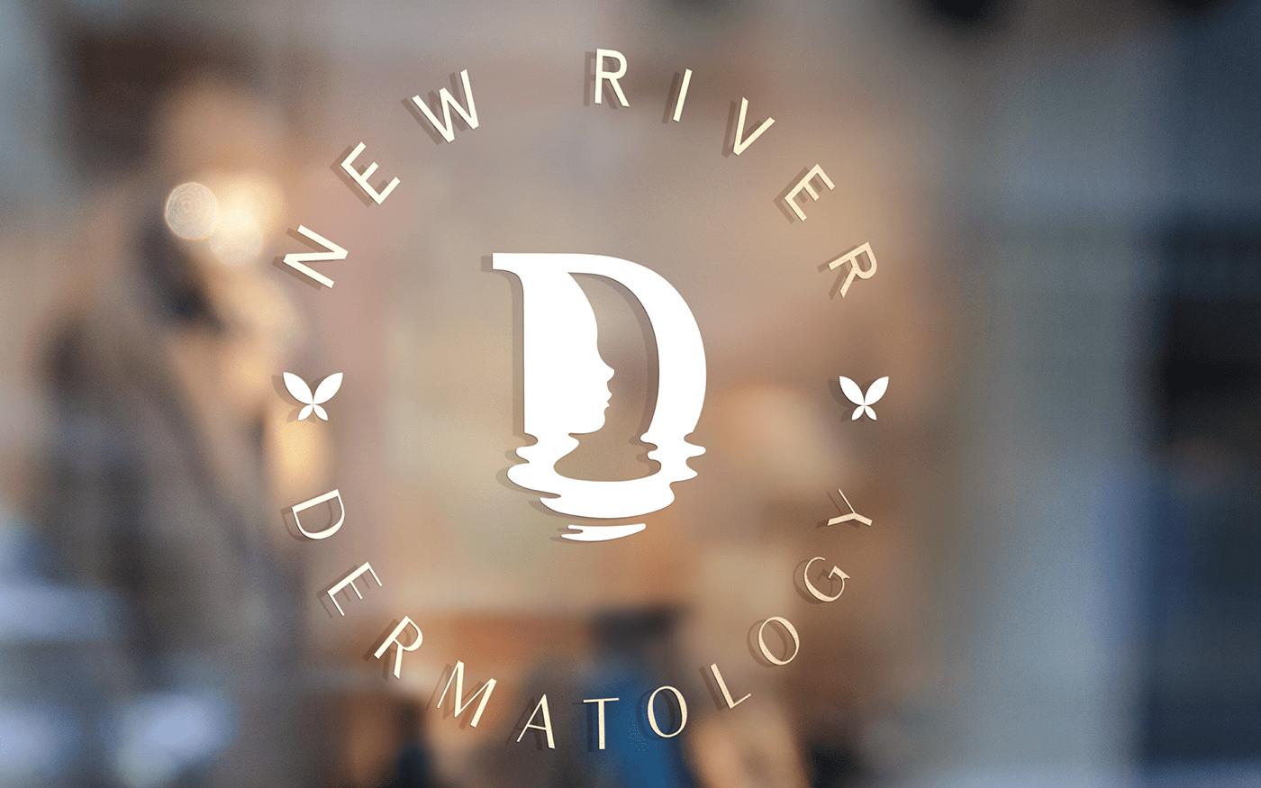 brand identity Brand System branding  butterfly dermatology doctor logo Logo Design medical profile