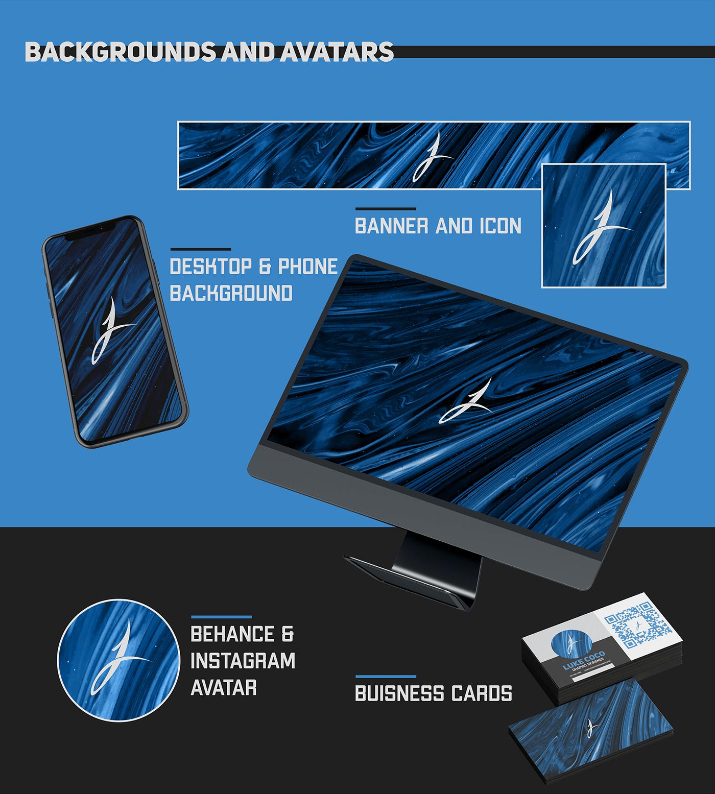 banner blue branding  concept graphic design  Header logo modern paint portfolio