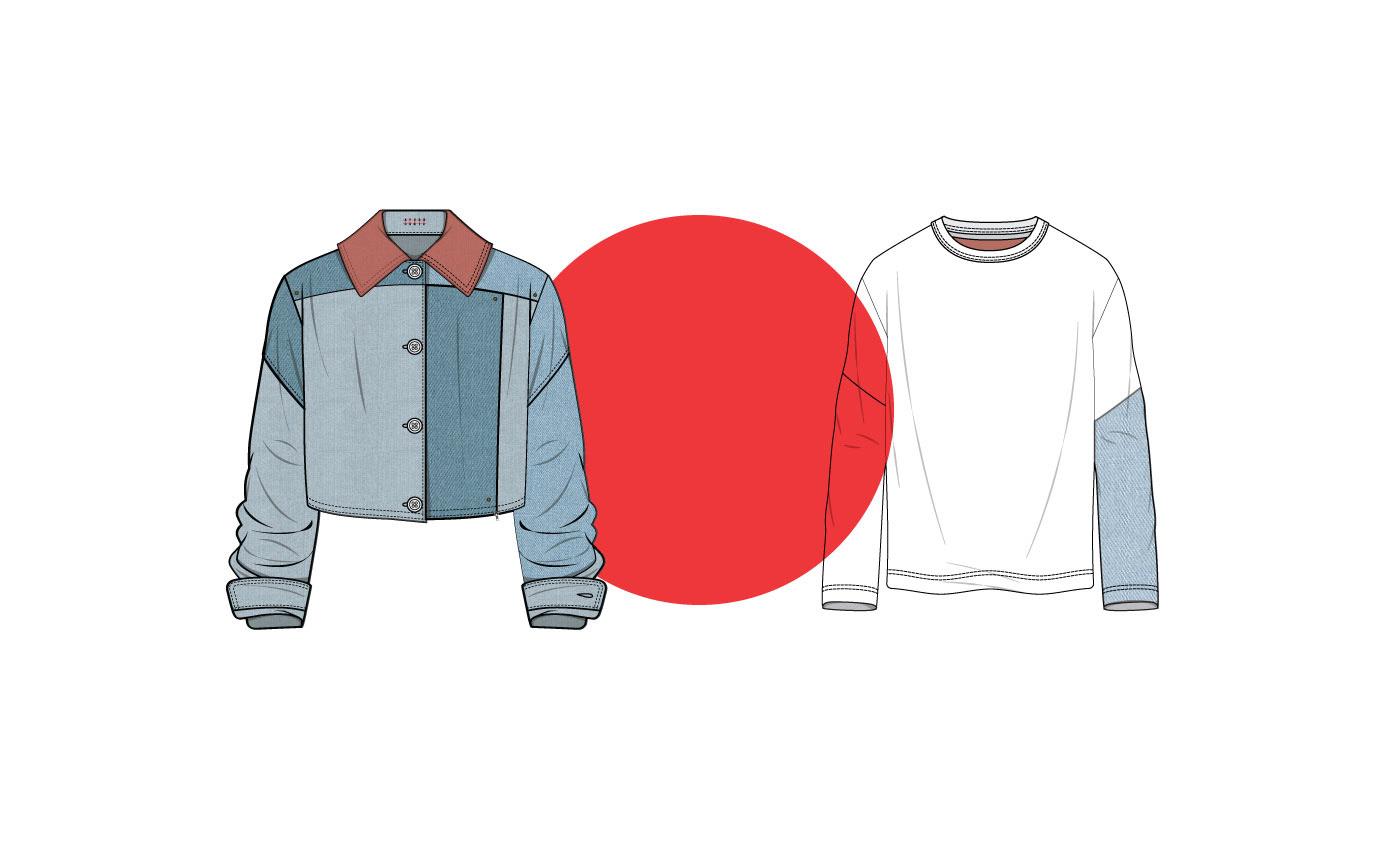 Denim design Fashion  fashion design Flats graphics jeans TECHNICAL SKETCHES