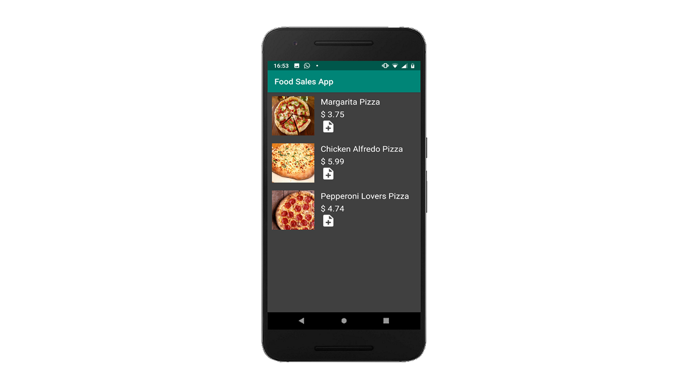app android kotlin Android Studio Food  sales food sales  paypal