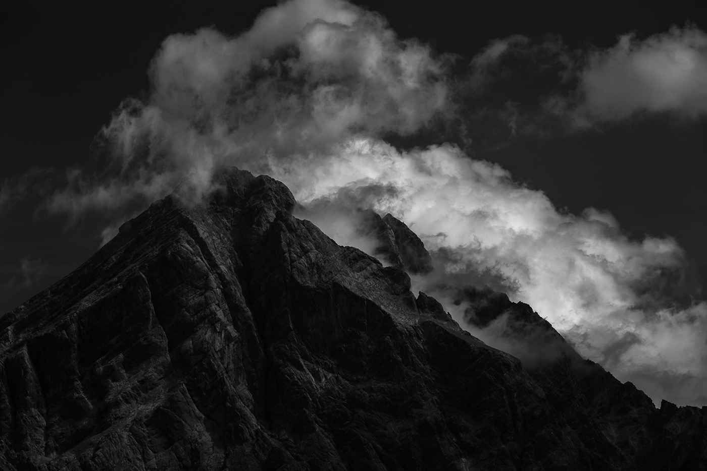 alps clouds dark dolomites Europe Landscape mountains Nature Outdoor south tyrol