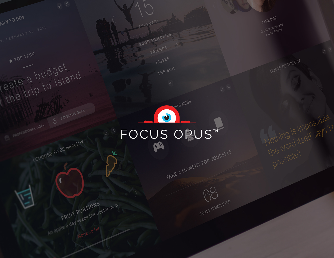 Focus opus Web app jene dana ARIEL darko janevski darjan stojanovski aimlessfly web app modern Productivity