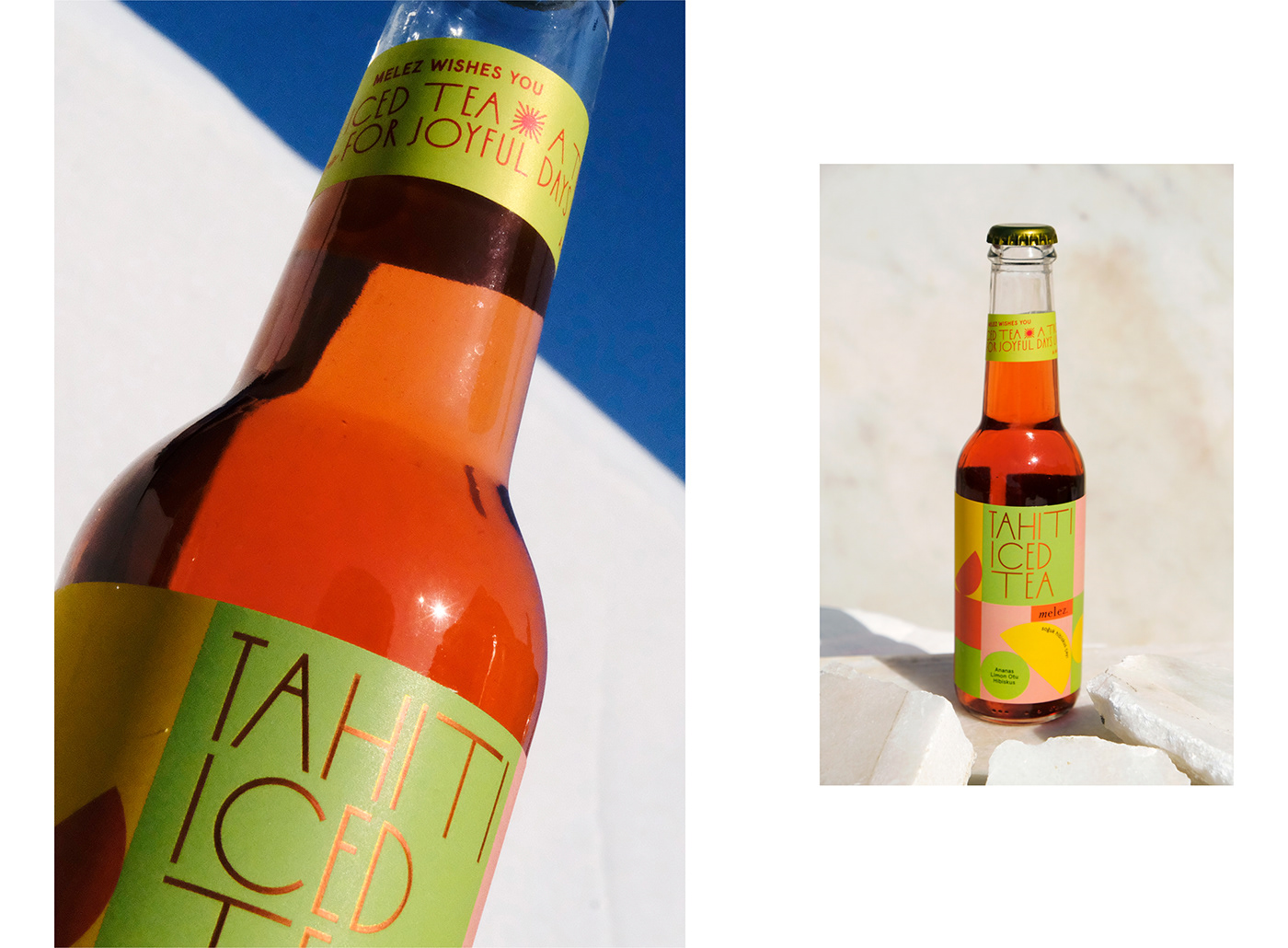 bauhaus design Geometric packaging Geometric Shapes ice tea design Ice Tea packaging label design melez branding melez tea branding multicolor new bauhaus