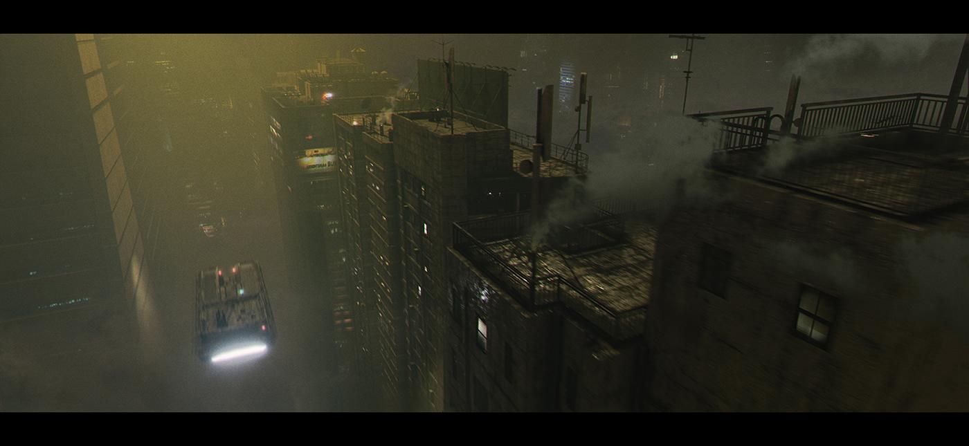 Cyberpunk,Dystopia,post apocalypse,Matte Painting,Dystopian,blade runner,futurist,blender3d,Kitbash3d,Eevee