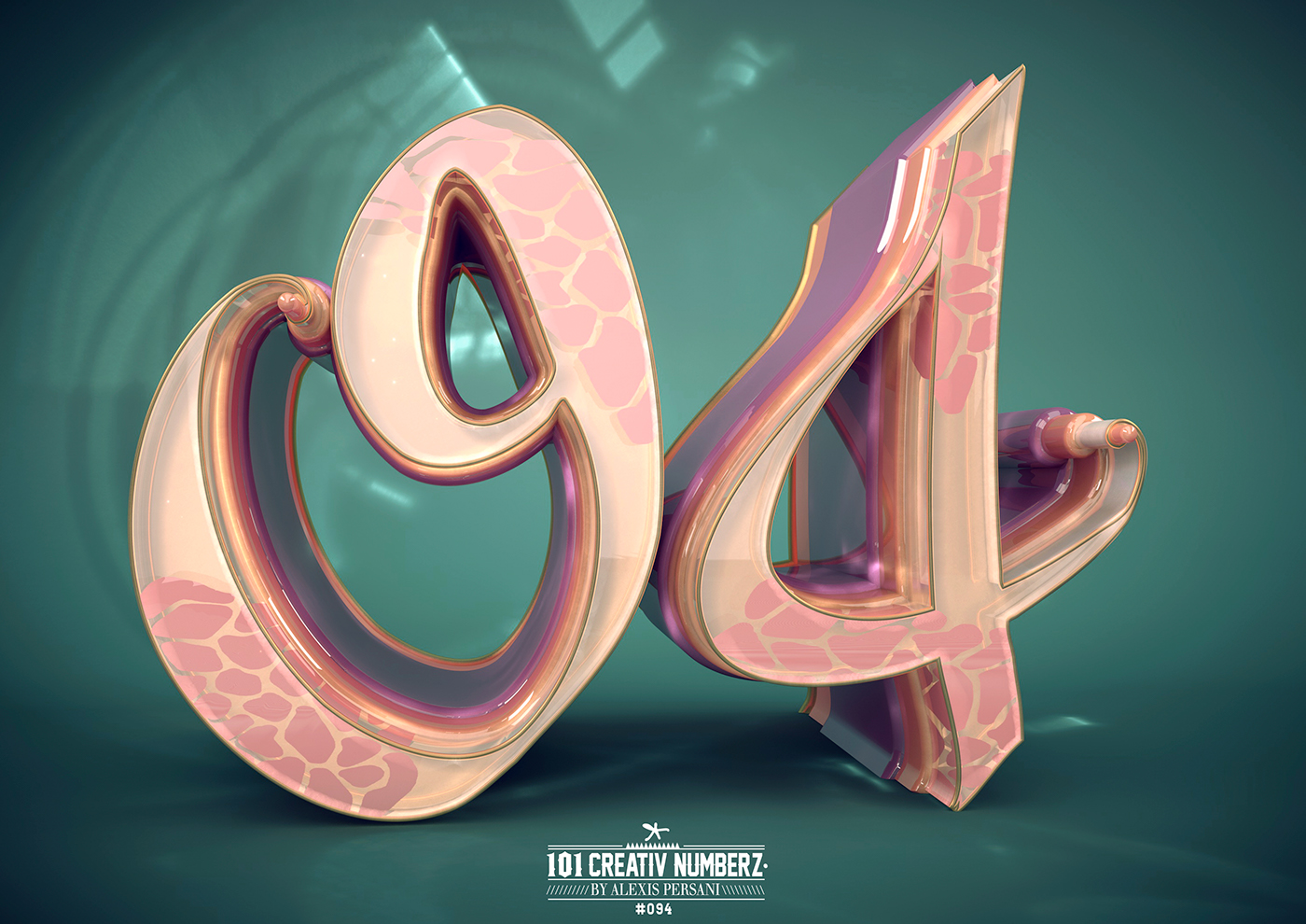 Outstanding 101 Creative Numbers Typography by Alexis Persani 88