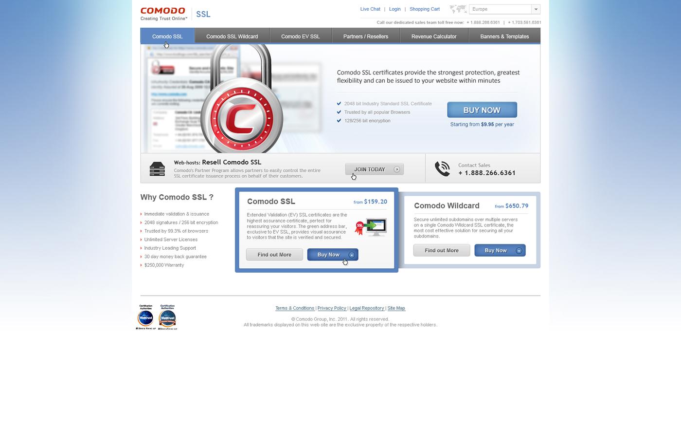 Comodo Ssl Website On Behance