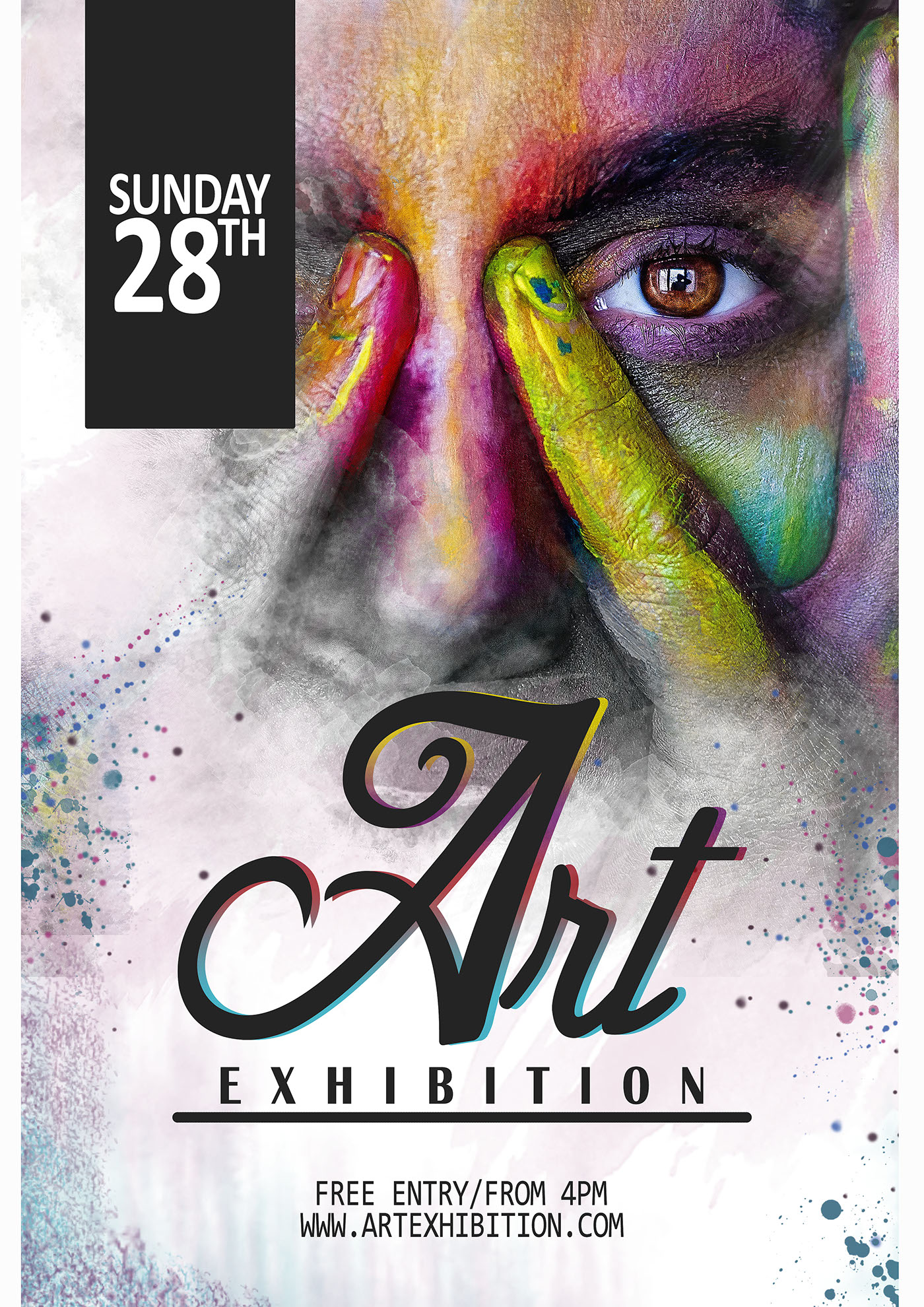 Art Exhibition Poster Designcreated By Using Adobe Photoshop