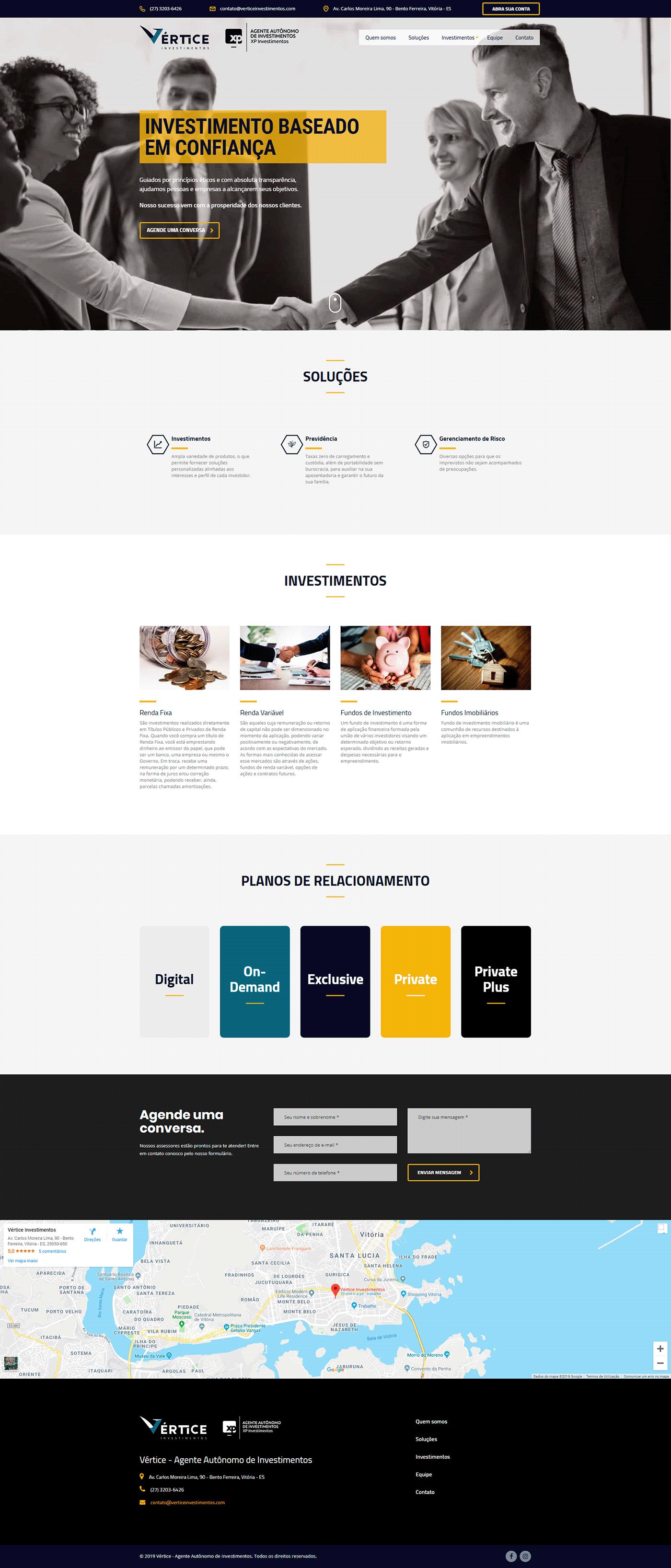 Vértice Investimentos Webdesign wordpress