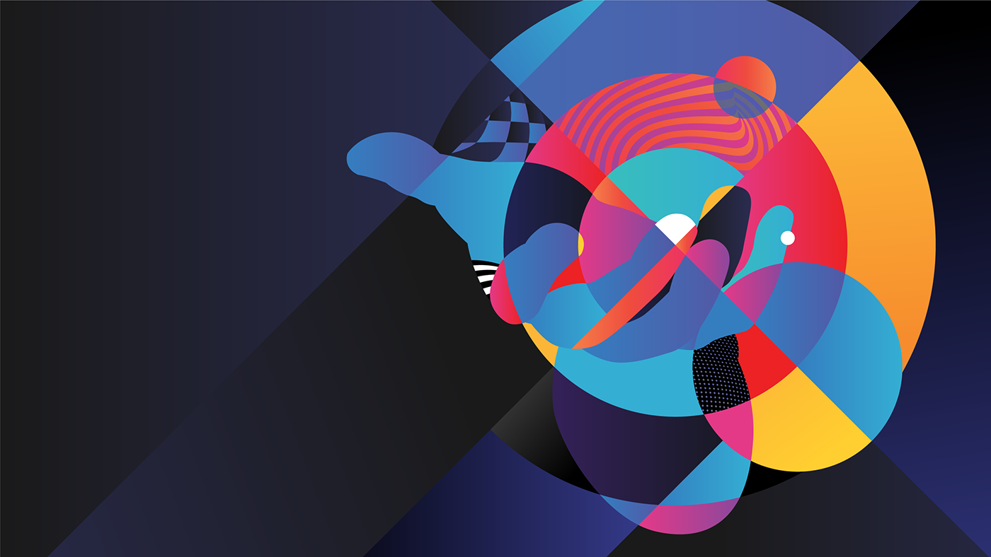 adobe ILLUSTRATION  UI ux animation  webexperience colorful graphicdesign abstraction vectorgraphic
