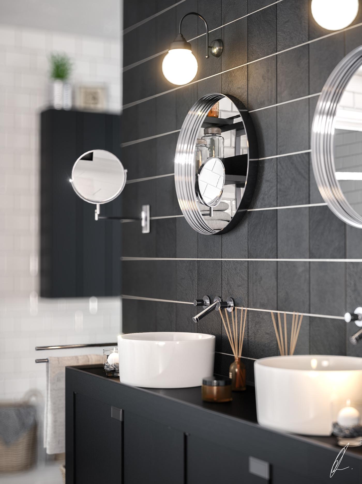 Bathroom Scene Max Vray on Behance