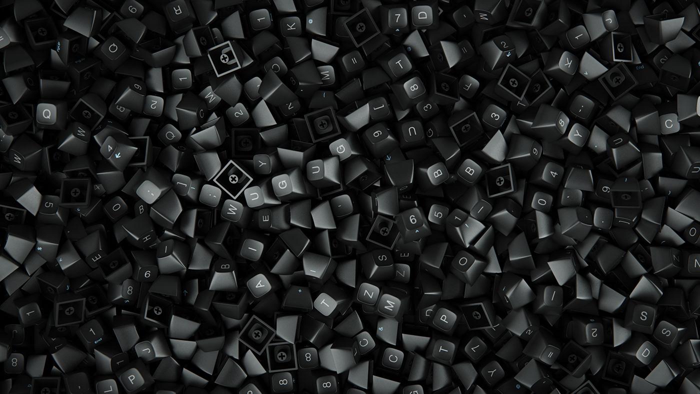 keyboard mechanical keyboard  Realism hyperrealism Silverwing-VFX 3D computer generated Raphael Rau cinema 4d desktop