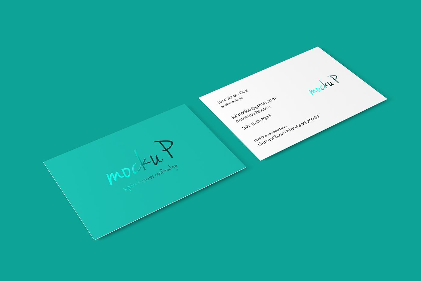 85x55 Business Card Mockup On Behance
