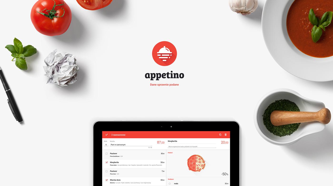 appetino challenge studio Gliwice app mobile landing page Food  restaurant bar waiter light clean Responsive
