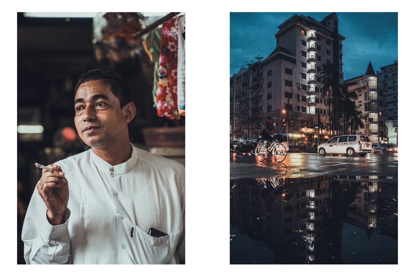 myanmar burma yangon bagan inlelake portrait Landscape people cinematic magazine