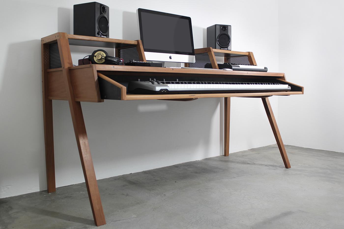 home studio desk on behance. Black Bedroom Furniture Sets. Home Design Ideas