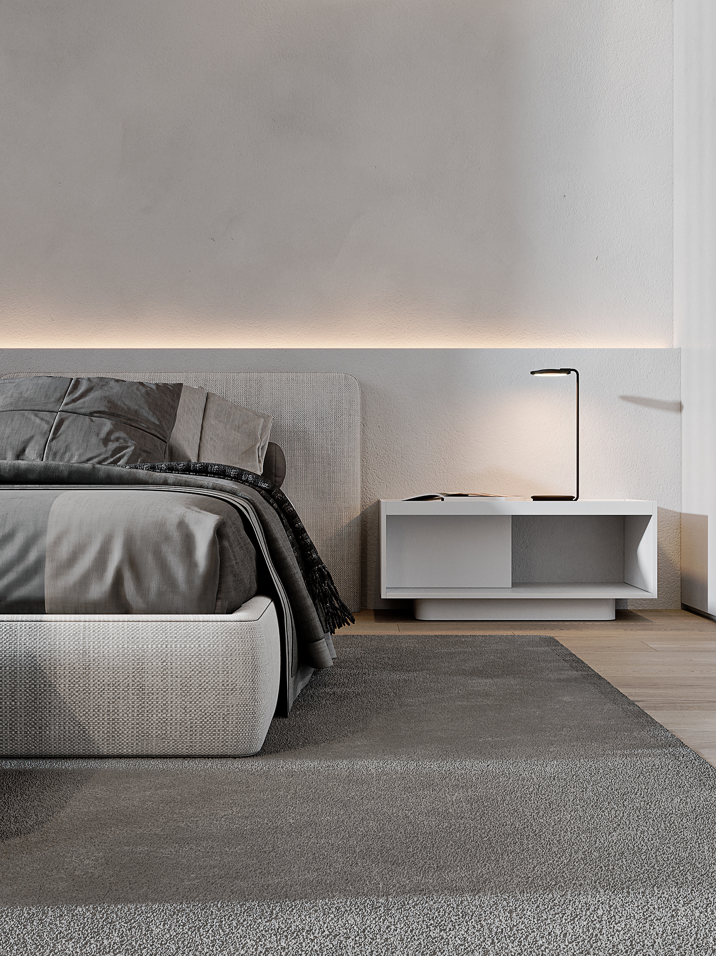 #architecture #bedrooom #behance #CG #contemporary #Corona #darkspace #interior #modern   #render
