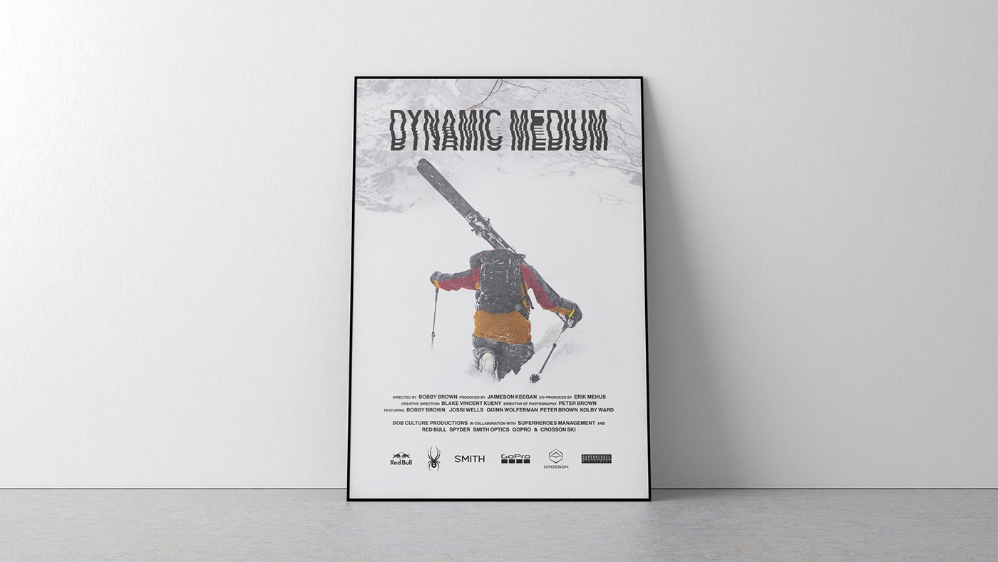 bobby brown Dynamic Medium Film   KuenyPearson motion graphics  Red Bull skiing snow Video Editing visual identity