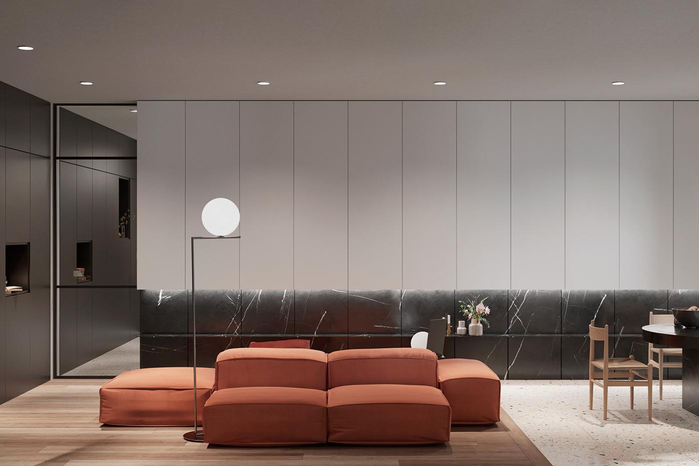 【国外作品】现代公寓 | Alexander Velgan