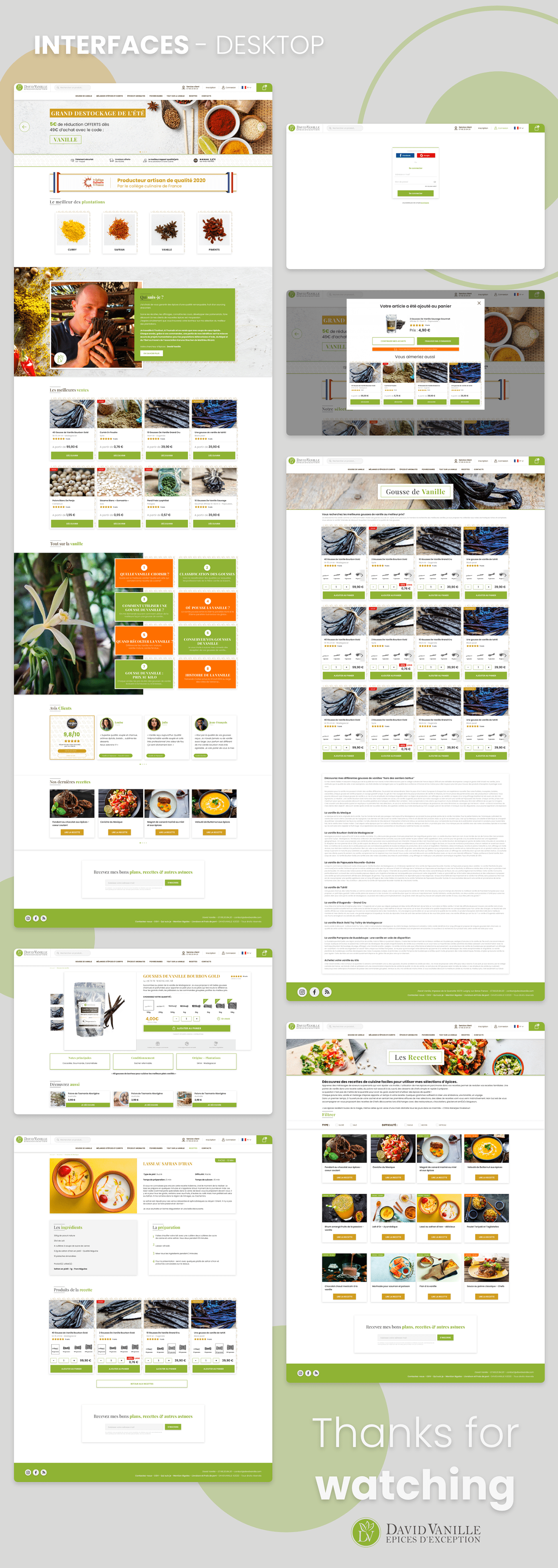 Adobe XD design epices epices d'exception poivres refont spices UI/UX vanille
