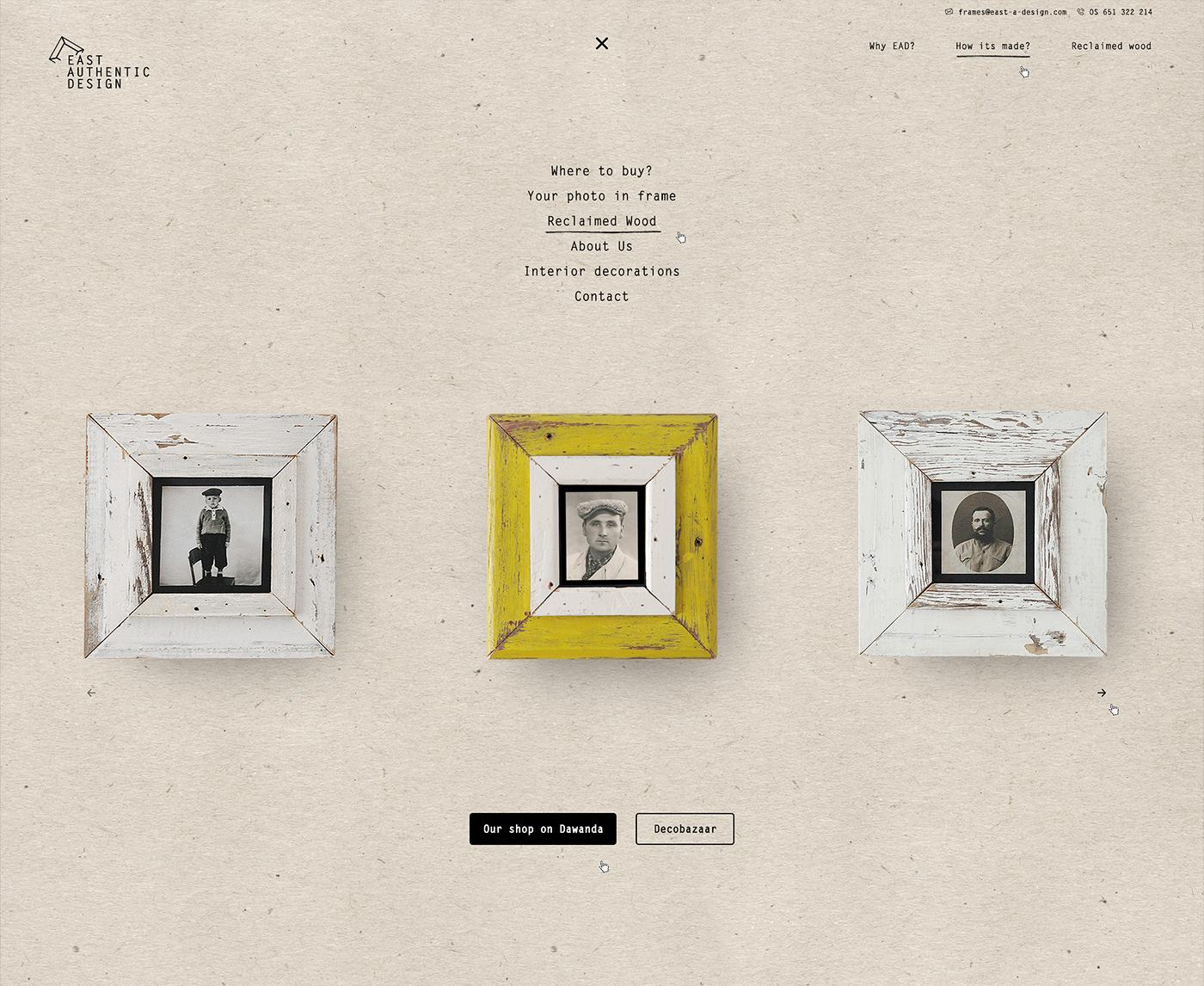 Website frames wooden Art Gallery  gallery art vintage LOFT design decorations