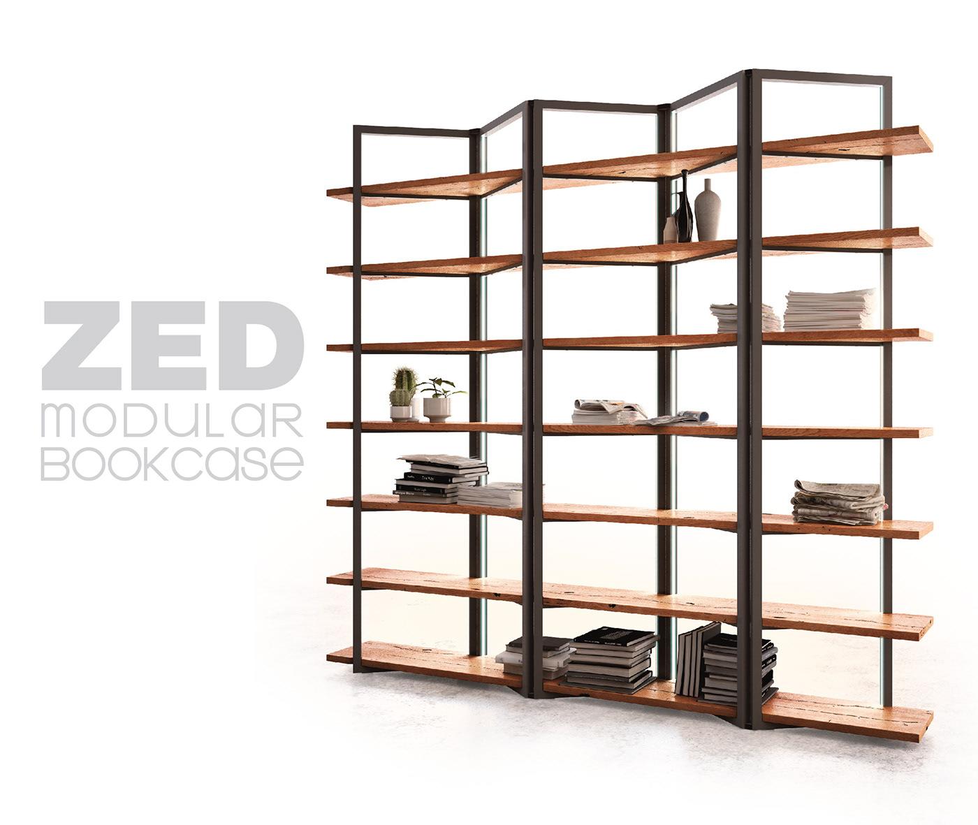 Zed Modular Bookcase On Behance