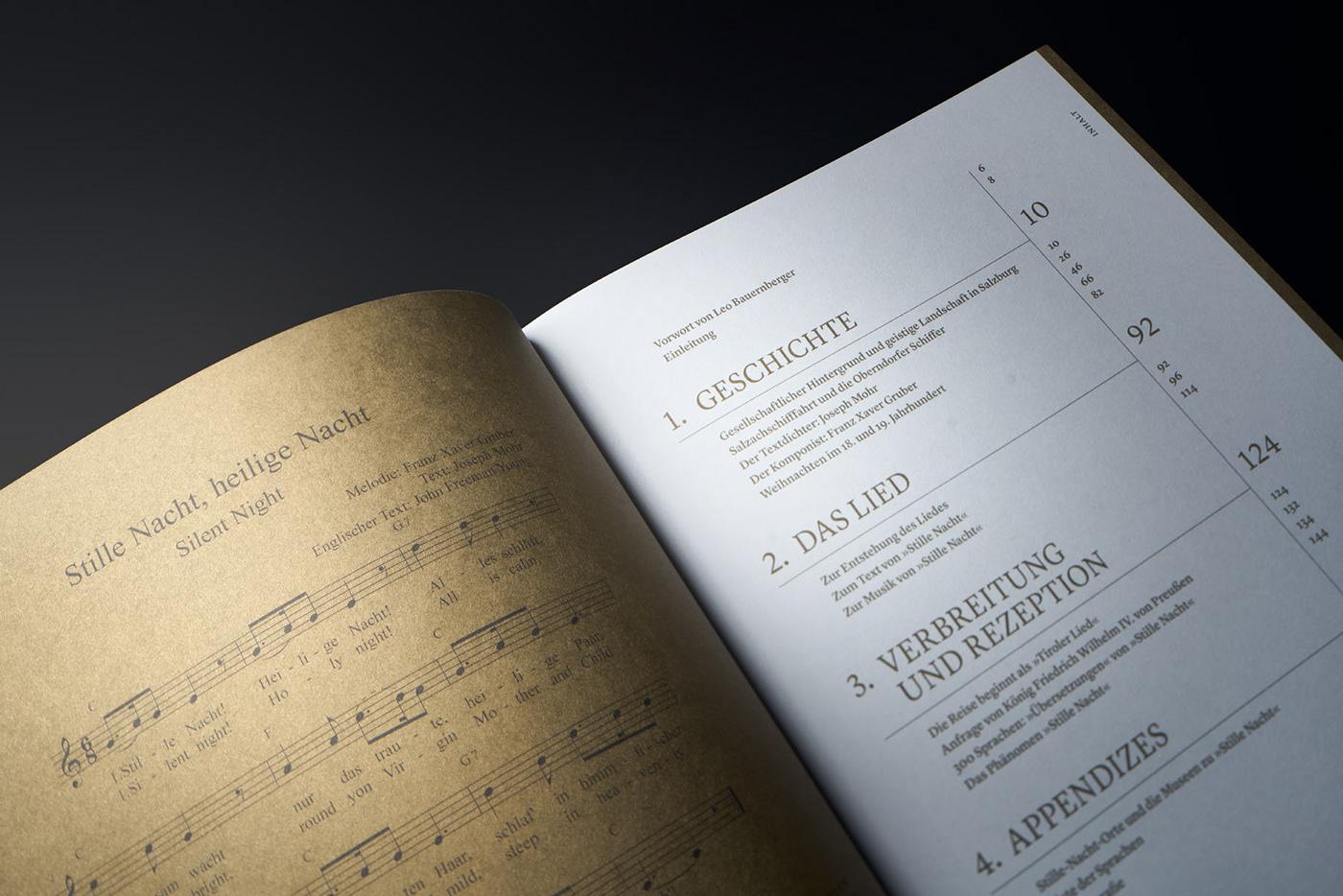 wirsindartisten Bookdesign christmasbook ChristmasCarol gmundpaper Goldenbook graphicdesign Silentnight xmas