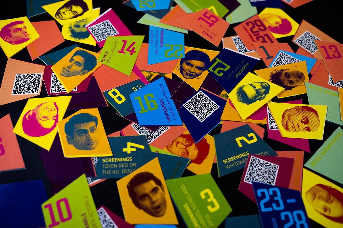 film festival Desicember desi branding  Identity Design App prototype
