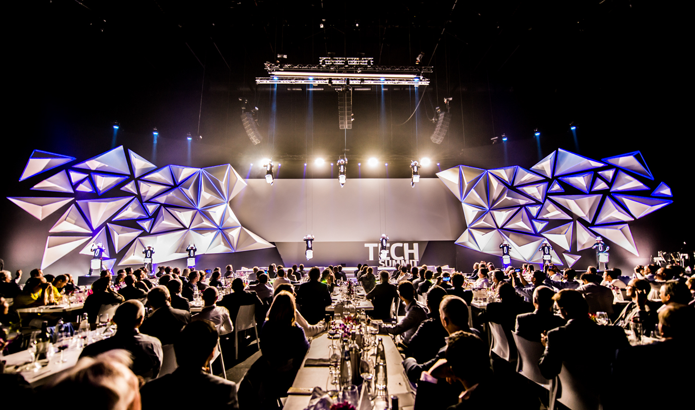 lowpoly LED LINES stagedesign Sharp