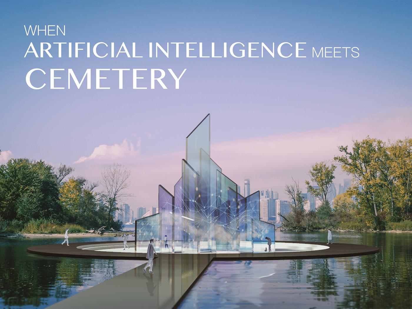 ai architecture artificial intelligence cemetery grave graveyard installation interactive public art Technology