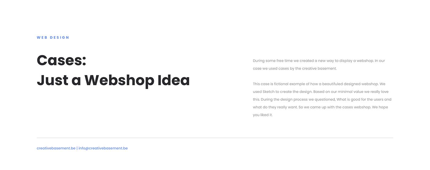 design Interaction design  sketch sketchapp TCB the creative basement Web Web Design  webshop Website