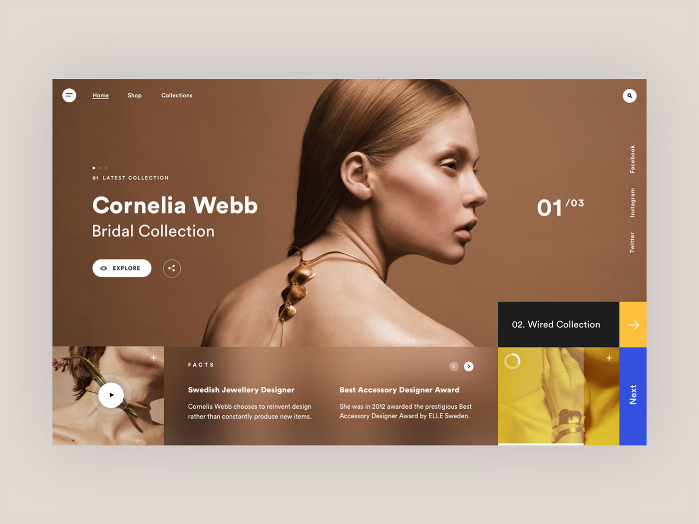 Mondrianizm typography   clean Layout modern Fashion  fitness UI dribbble Collection