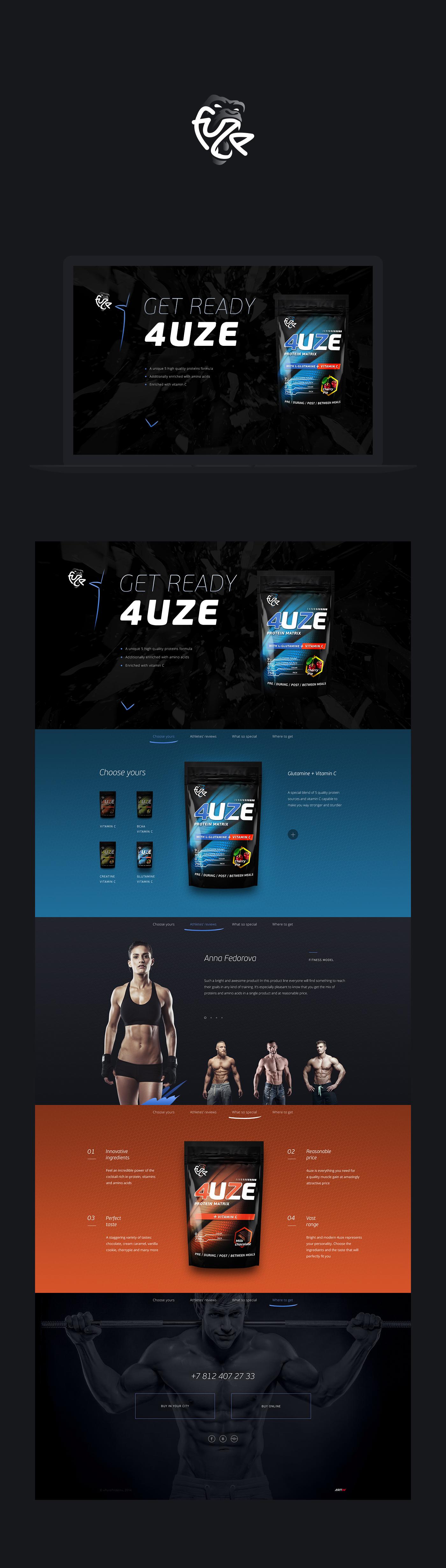 sport nutrition gym muscle black blue energy power girl strong promo Website loud BodyBuilding landing