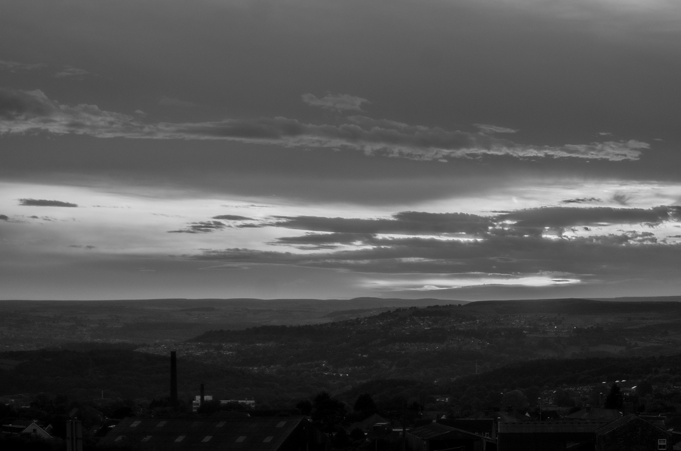 Black and White Sunset.