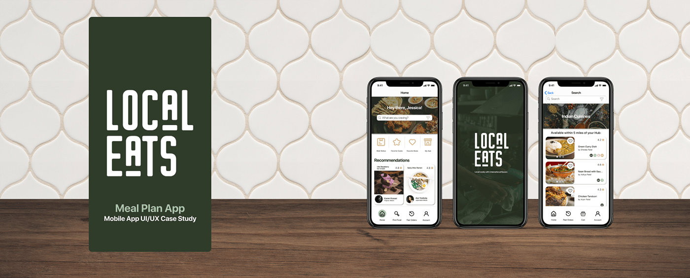 app application Case Study Food  local mobile Order prototype UI ux