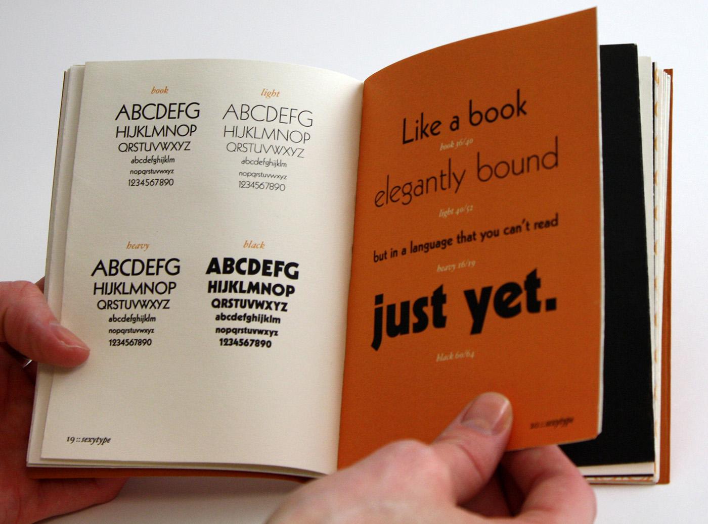 Type Specimen Book on Behance