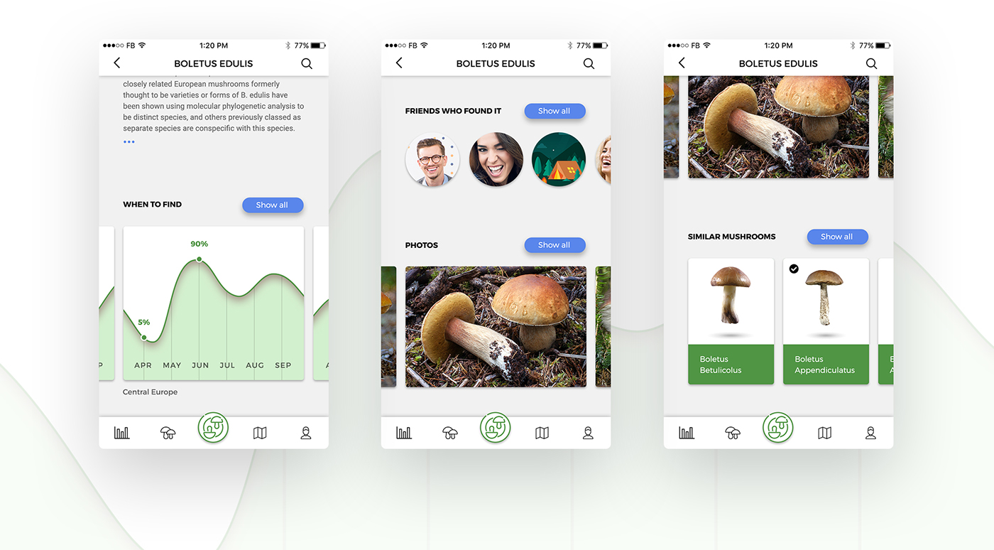 mushroom bolete app ios apple watch compass find search recognize