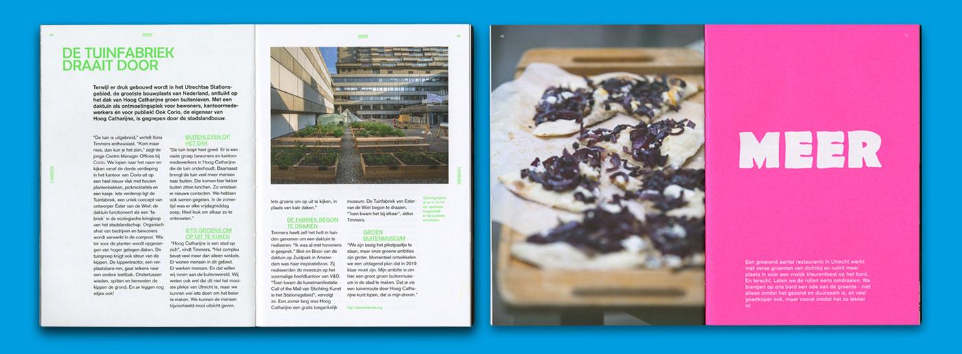 editorial design  book graphic design  urban cooking risograph print utrecht cookbook