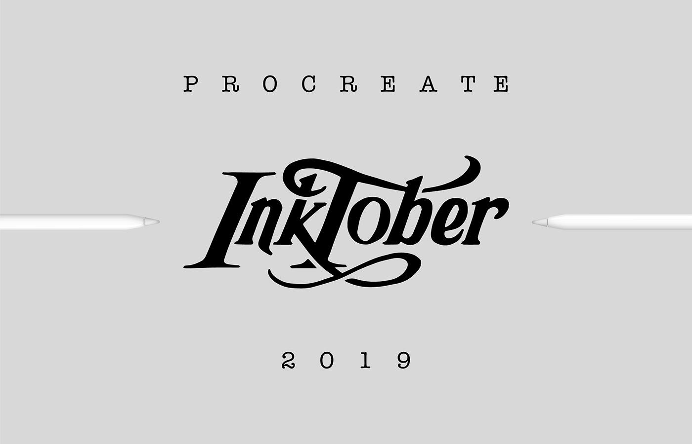 inktober inktober2019 graphic design  Jake Parker ILLUSTRATION  ink characters
