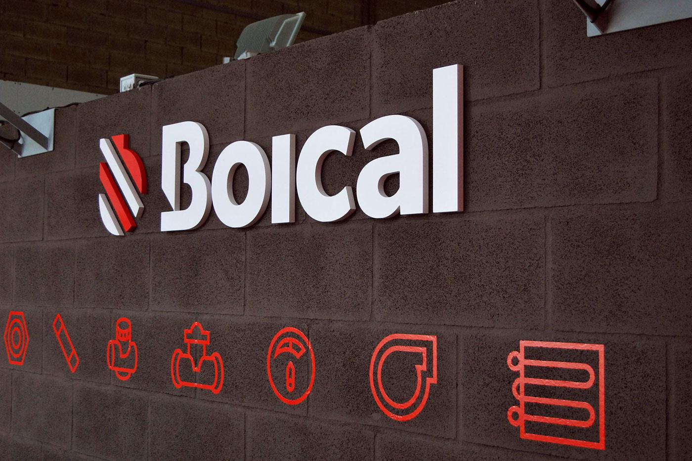 Signage brand boical Catalogue Boiler spare parts design logo