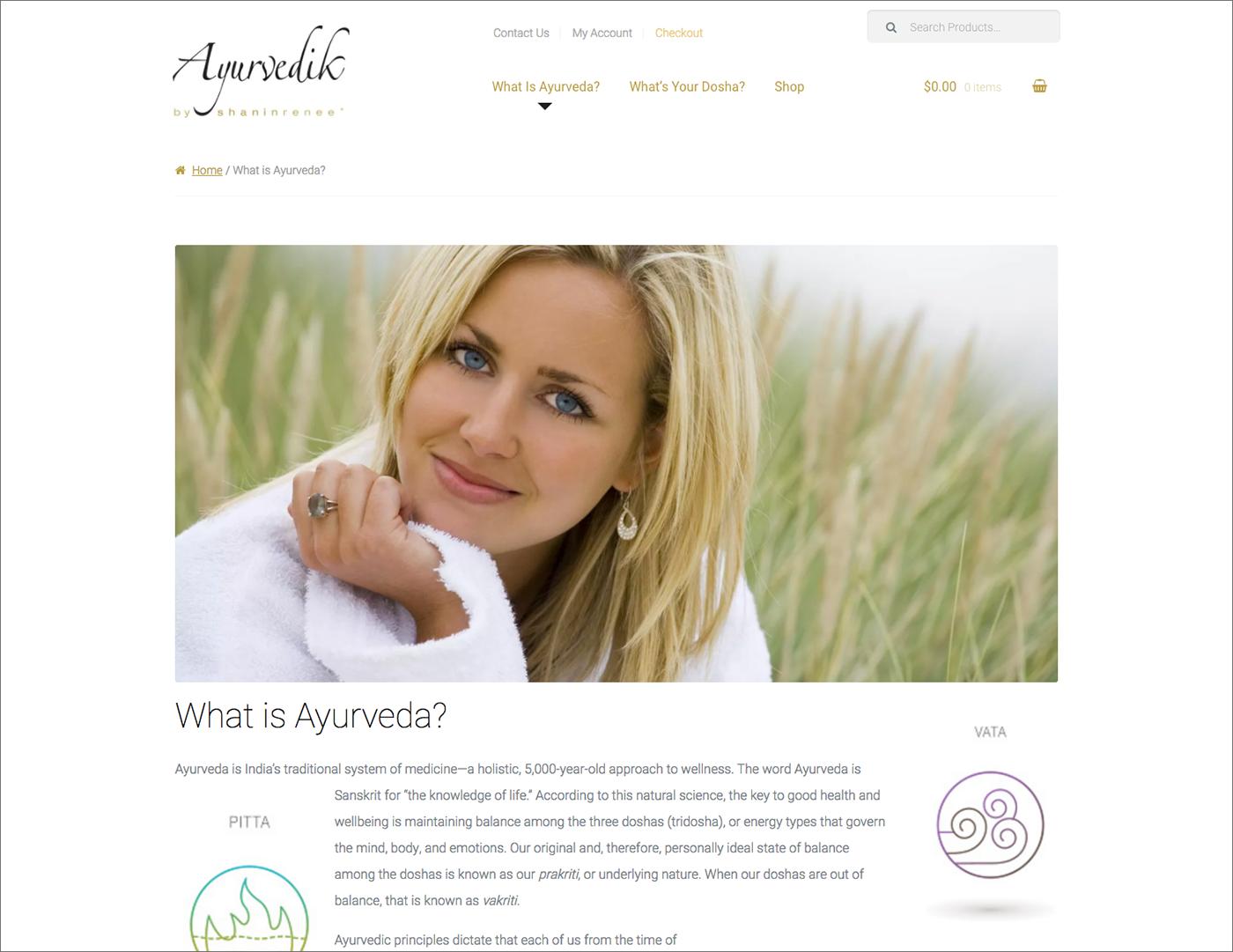 Ayurvedik Wellness website