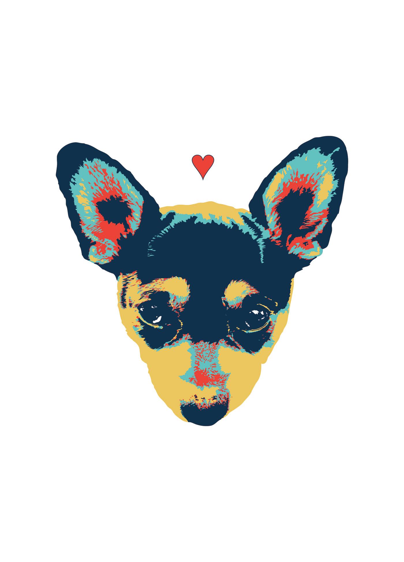 Image may contain: animal, dog and art