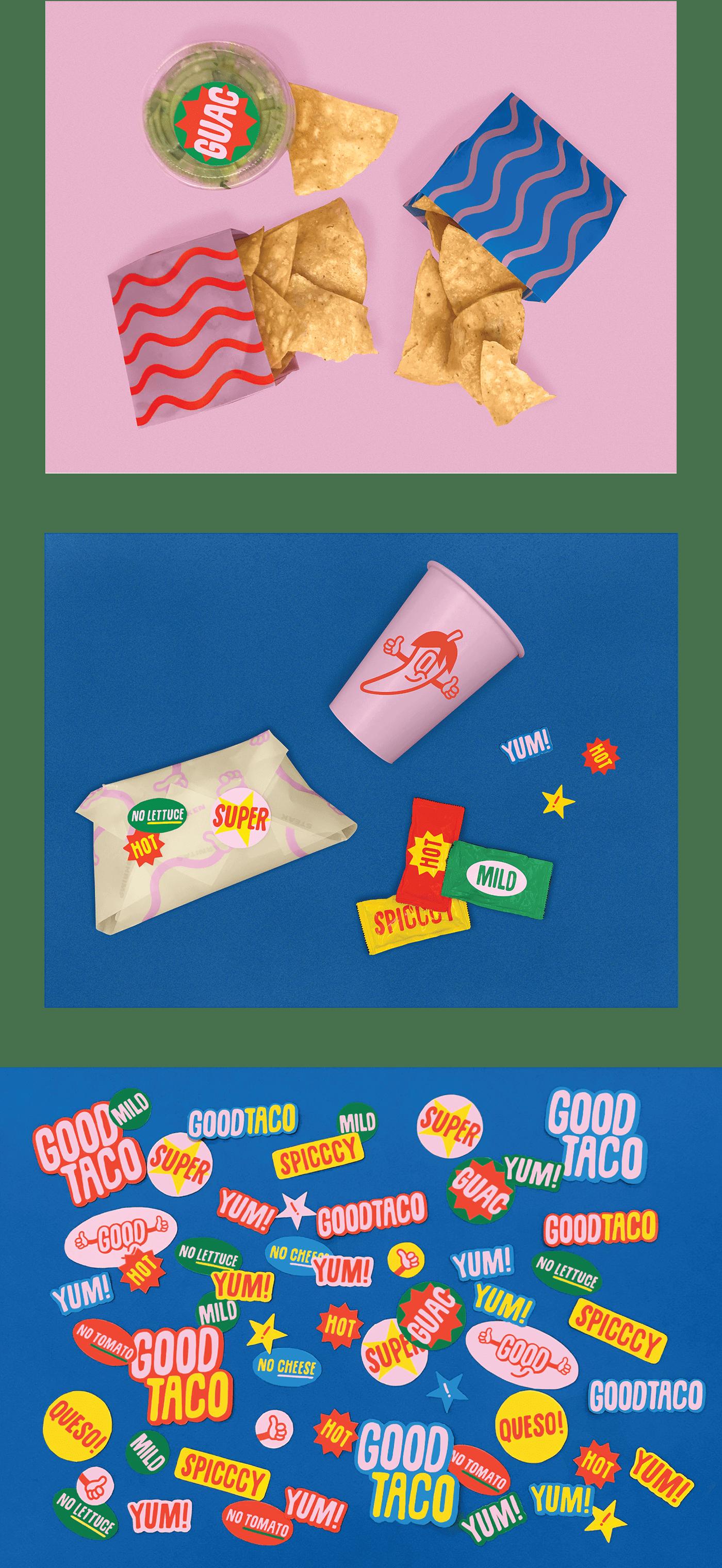 fast food packaging Packaging branding  Tacos menu Mexican restaurant