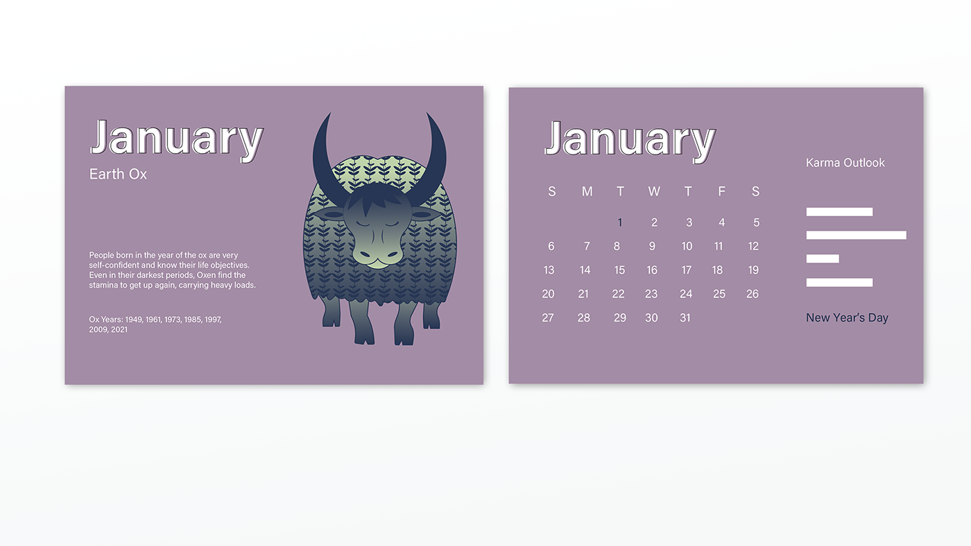 Chinese Zodiac Calendar on Behance