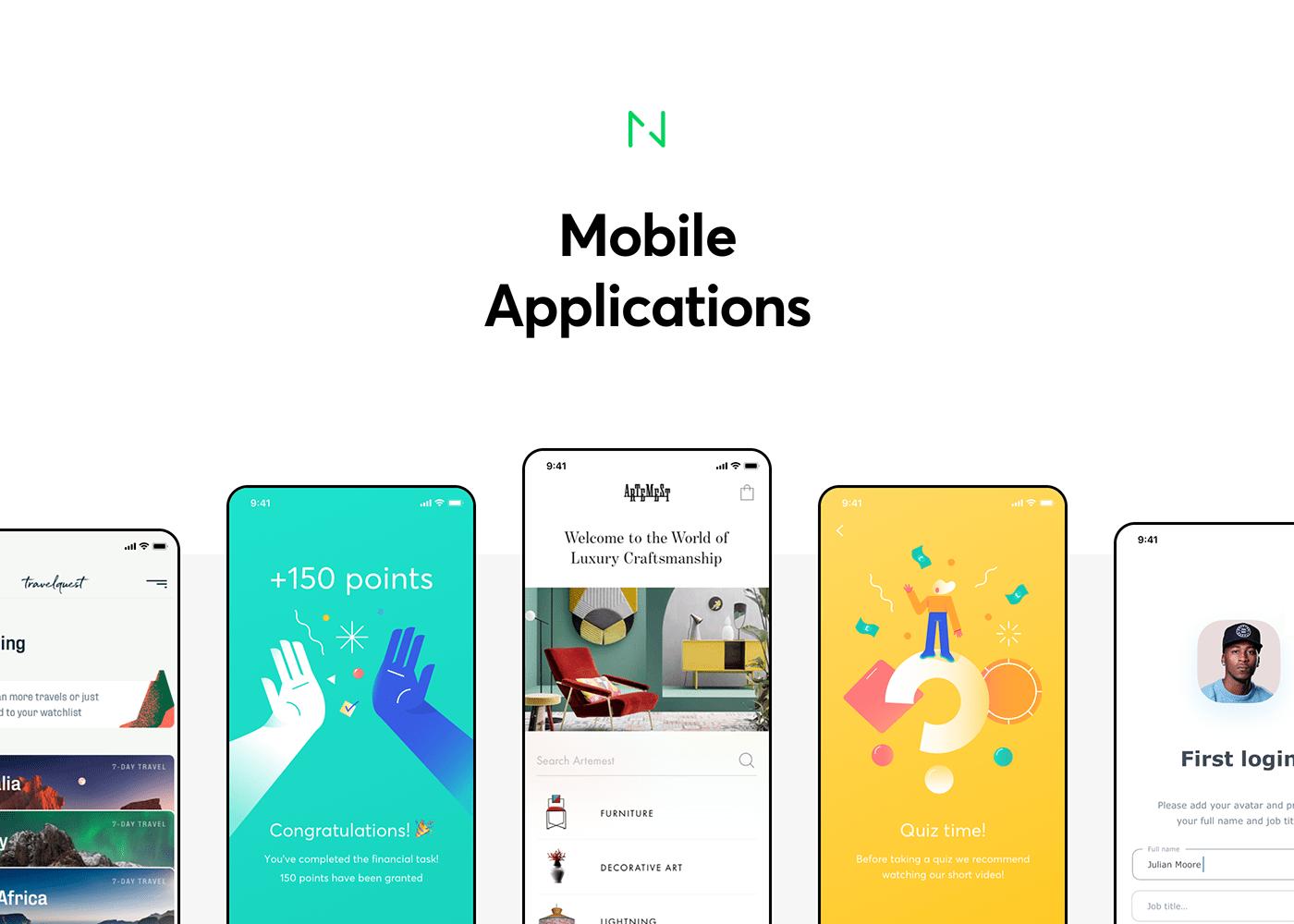 app ios mobile Native UI ux apple iphone ILLUSTRATION  animation
