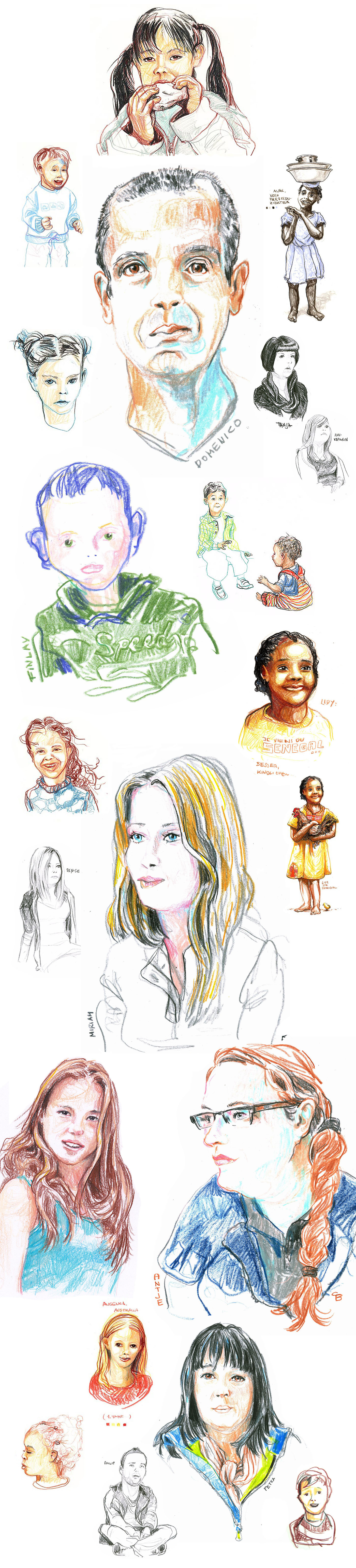 collage,Drawing ,sketch,sketchbook,Editorial Illustration,people,portrait