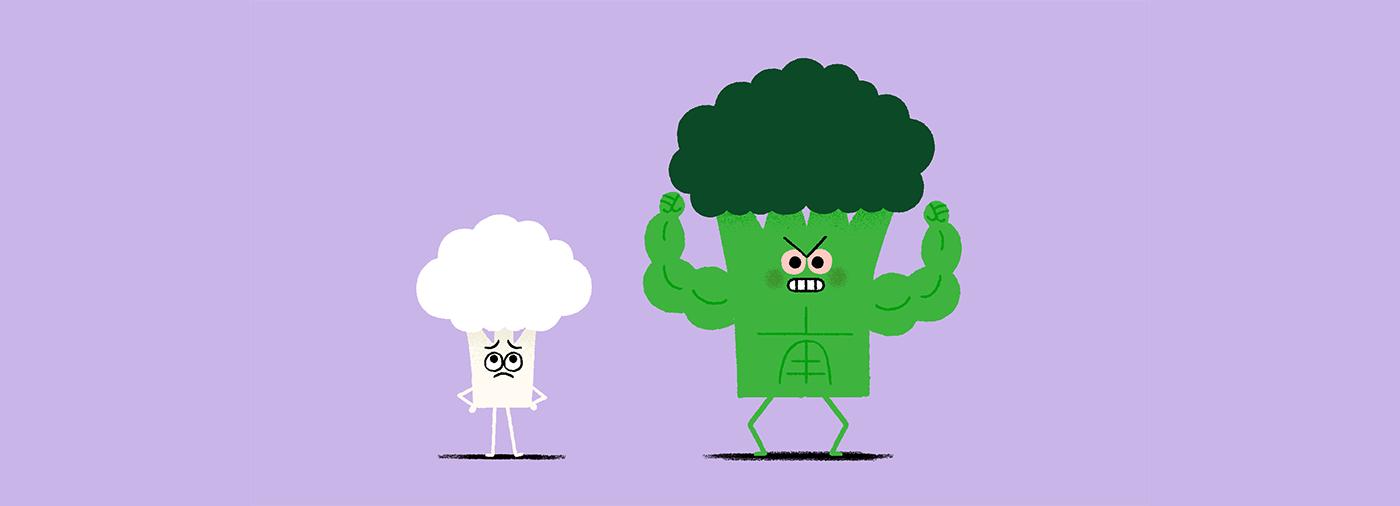 vegan animation  art Digital Art  motion Food  Sound Design  Hulk SuperHero fight
