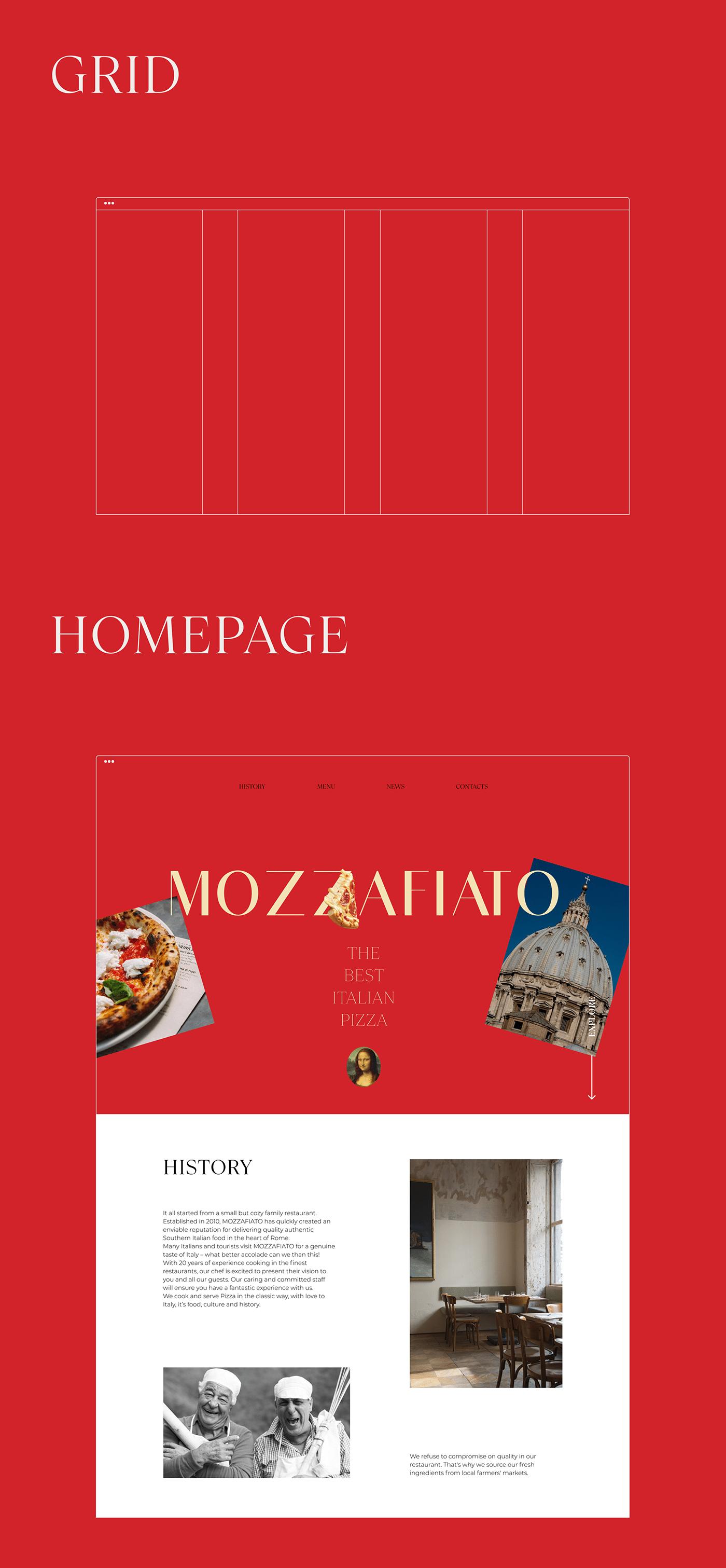 concept restaurant shop UI ux UX/UI Designer Web Design